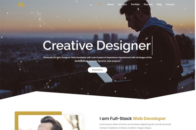 Mira Resume Portfolio HTML5 Template