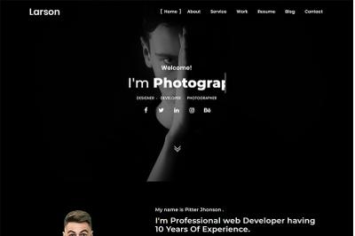 Larson Personal Portfolio Website Template