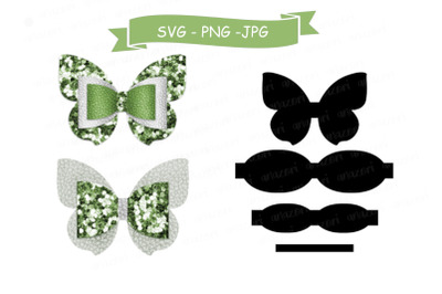 Butterfly Bow SVG Cut File, Hair Accessories SVG Template