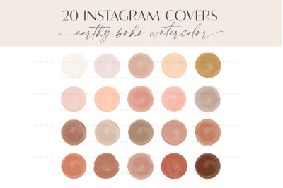Boho Painted Instagram Highlight Cover Icons