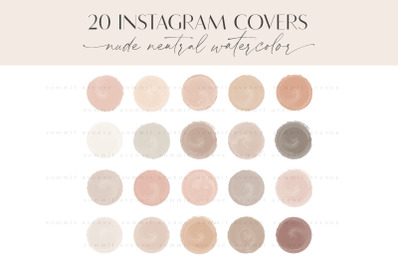 Neutral Nude Painted Instagram Highlight Cover Icons