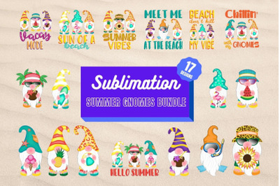 Summer Gnomes Sublimation Bundle