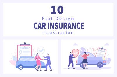 10 Car Insurance Illustration