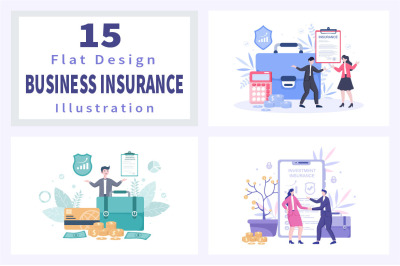 15 Business and Investment Insurance Illustration