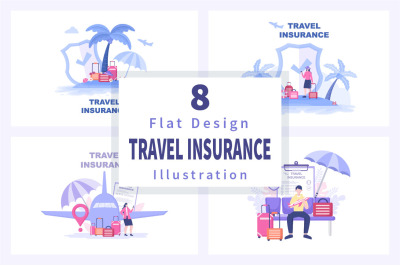 8 Travel and Tour Insurance Illustration