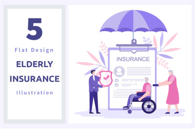 5 Elderly Insurance Illustration
