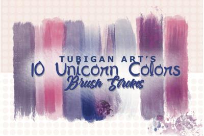13 PNG Unicorn Colors Brush Strokes