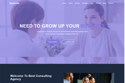 Dosmile Consulting & Business Template