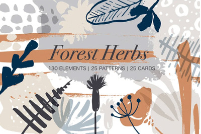 Forest herbs. Big graphic set . New UPDATE
