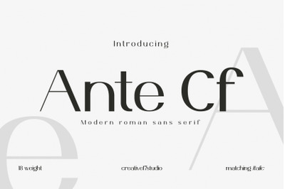 Ante Cf Font Family