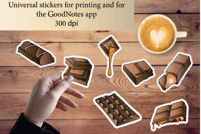 Stickers for printing and for the GoodNotes app.Chocolate
