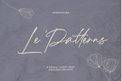 Le Patterns Script Font