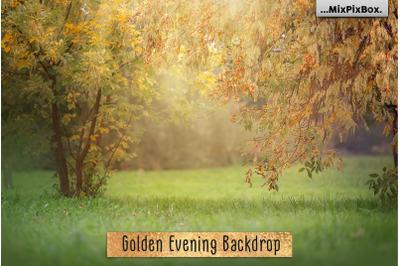 Golden Evening Backdrop