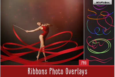 55 Ribbons Transparent Overlays