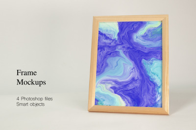 Frames Mockups. 4 PSD files with smart objects.