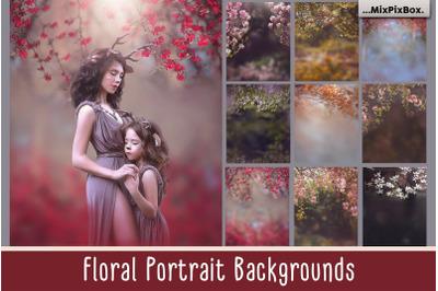 Floral Portrait Backgrounds