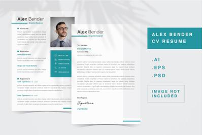 Alex Bender - CV Resume Template