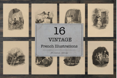 Vintage french illustrations