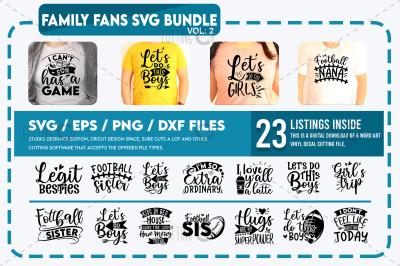 Family Fans Svg Bundle vol 2