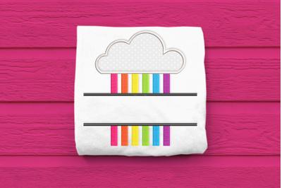 Rainbow Cloud Split | Applique Embroidery