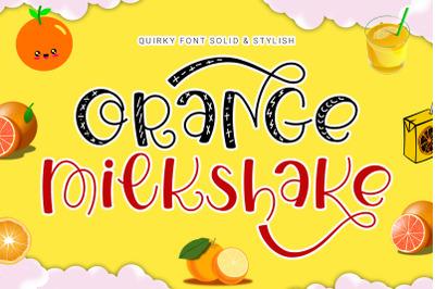 Orange Milkshake