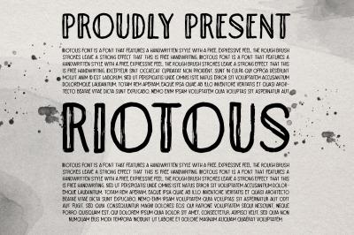 Riotous - Brush Font