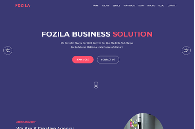 Fozila Digital Corporate Template