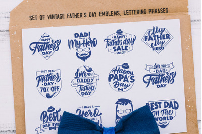 Fathers day SVG. Father's day emblems