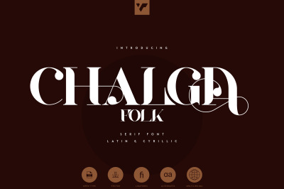 Chalga Folk Edition - Serif font