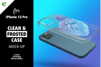Phone 12 Pro Clear Case Mock-up
