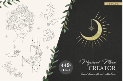 Mystical Moon Trendy Designs