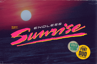 Endless Sunrise - A Sun-kissed 80s Inspired Script Font Duo