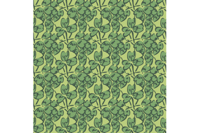 Drawing, green foliage, leaves, floral seamless pattern, nature abstra