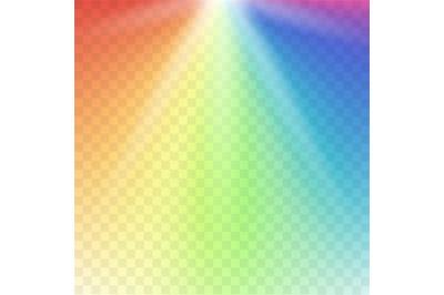 Rainbow lights gradient spectrum