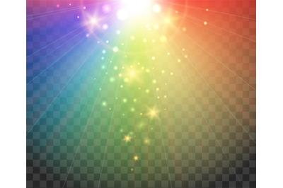 Gradient spectrum rainbow lights