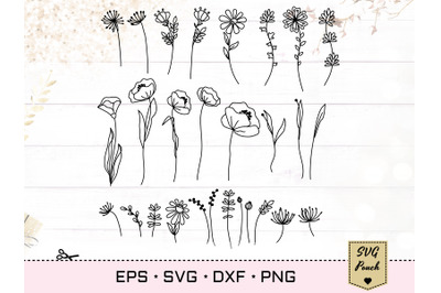 Wildflower 28 plants SVG set