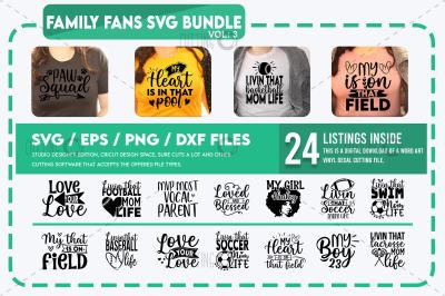 Family Fans Svg Bundle vol 3