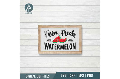 Farm Fresh Watermelon svg, Summer svg cut file