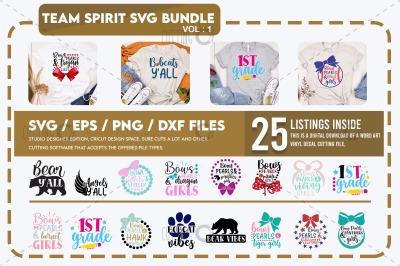 Team Spirit Svg Bundle Vol 1
