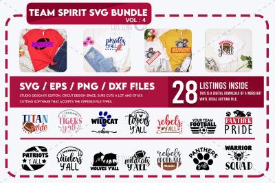Team Spirit Svg Bundle vol 4