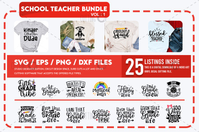 School Teacher Svg Bundle Vol 1