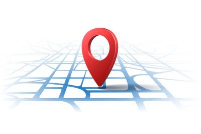 Gps 3d location pins