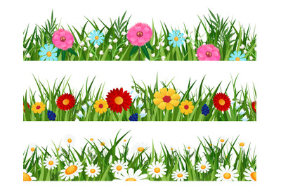 Spring flowers lawn patterns