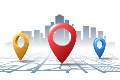 Location check road pins