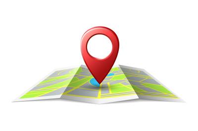 Map localization place pin