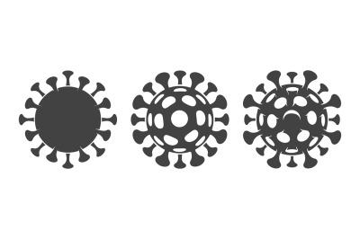 Covid pictogram on white