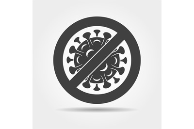 Stop bacteria infected icon