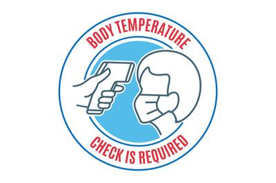 People body temperature control icon