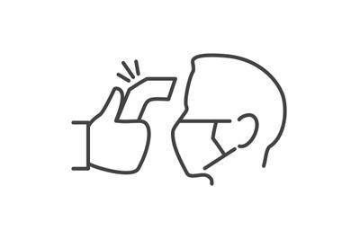 Hospital fever sensor icon
