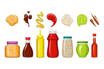 Gourmet sauces bottles